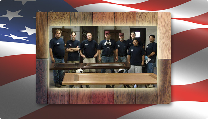 stain shop finishing crew