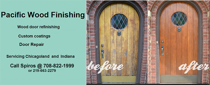 Get Local Wood Door Finishing in Chicagoland Area