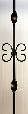 butterfly iron baluster