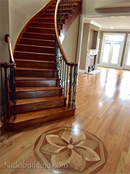 Cusrved Staircase in Oak for Builder in Tennessee