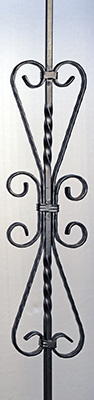 small hearts iron baluster