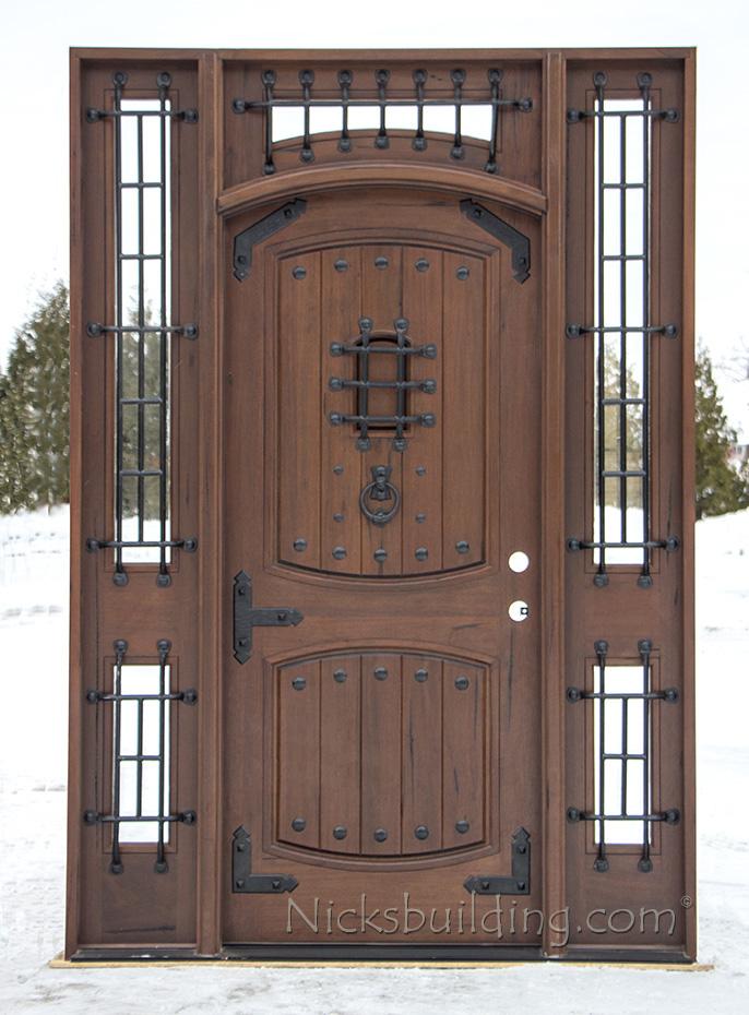 Rustic Teak Wood Arched Castle Door Model Vienna & Teak Exterior Doors