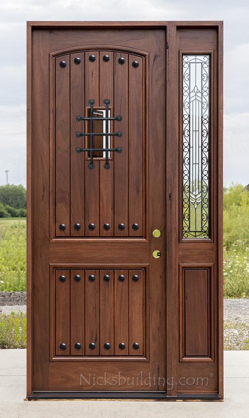 Exterior Teak Door With 1 Sidelite Entry