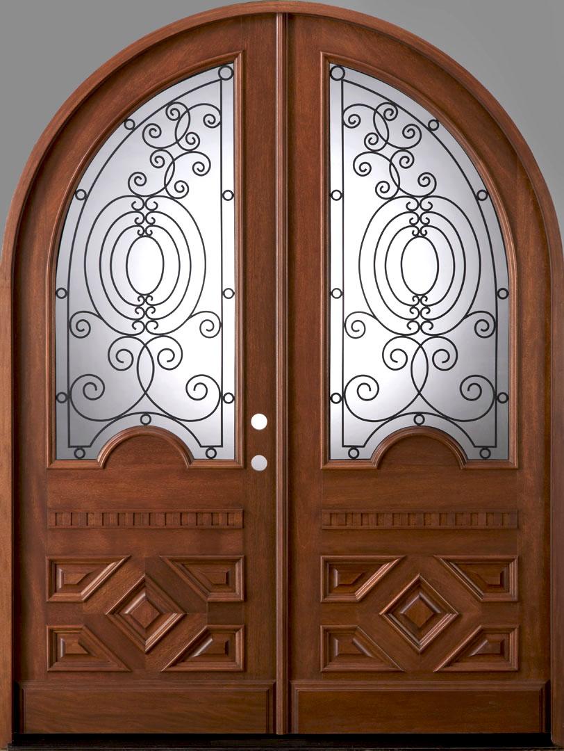 Radius Double Door Solid Mahogany Double Entry Doors