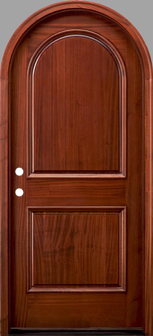 Rt2 African Mahogany Door Radius Top Door