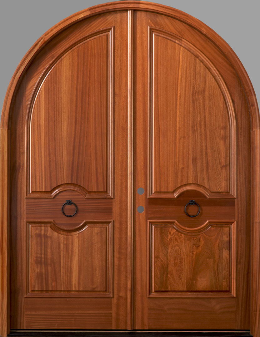Salzburg African Mahogany True Radius Top Double Door