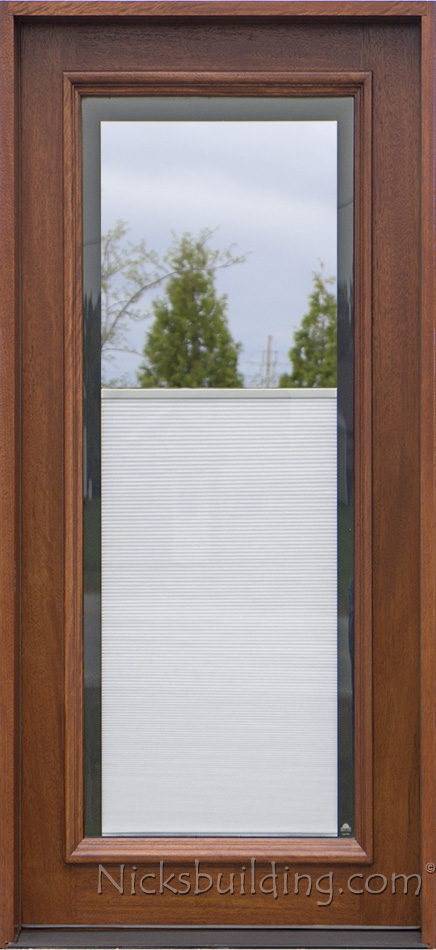 Blinds between glass for Full window exterior door