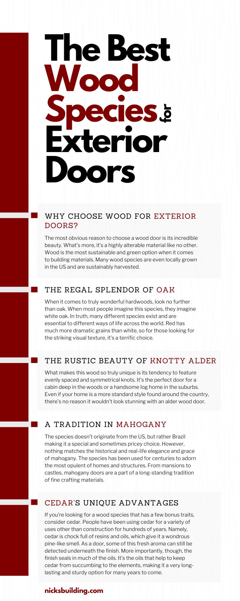 The Best Wood Species for Exterior Doors
