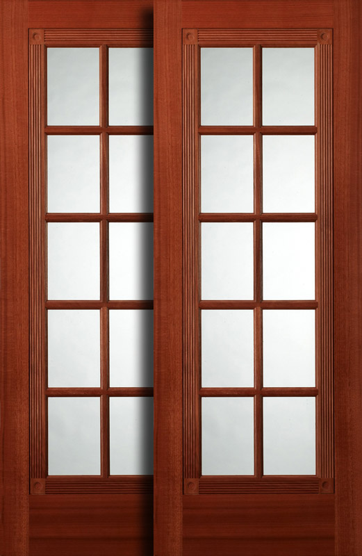 Bipass doors erias 106 series vinyl clad 6 panel bi pass for Pocket french doors exterior