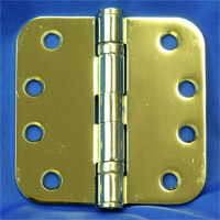 Polished Brass Exterior Door Hinges