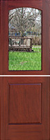 mahogany 2 Panel interior Dutch Door with Glass