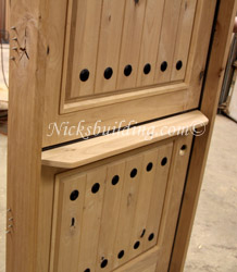 Exterior Dutch Doors with Shelf