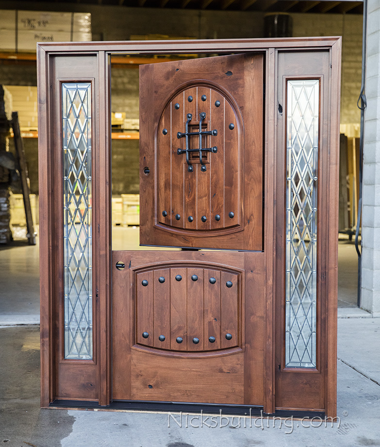 Rustic Exterior Dutch Door With Sidelites Knotty Alder Sidelights