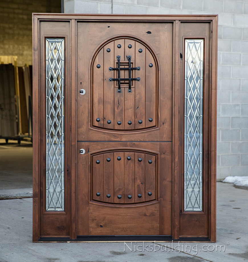 Rustic Exterior Dutch Door With Sidelites