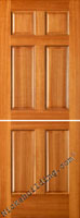 dutch doors in mahogany