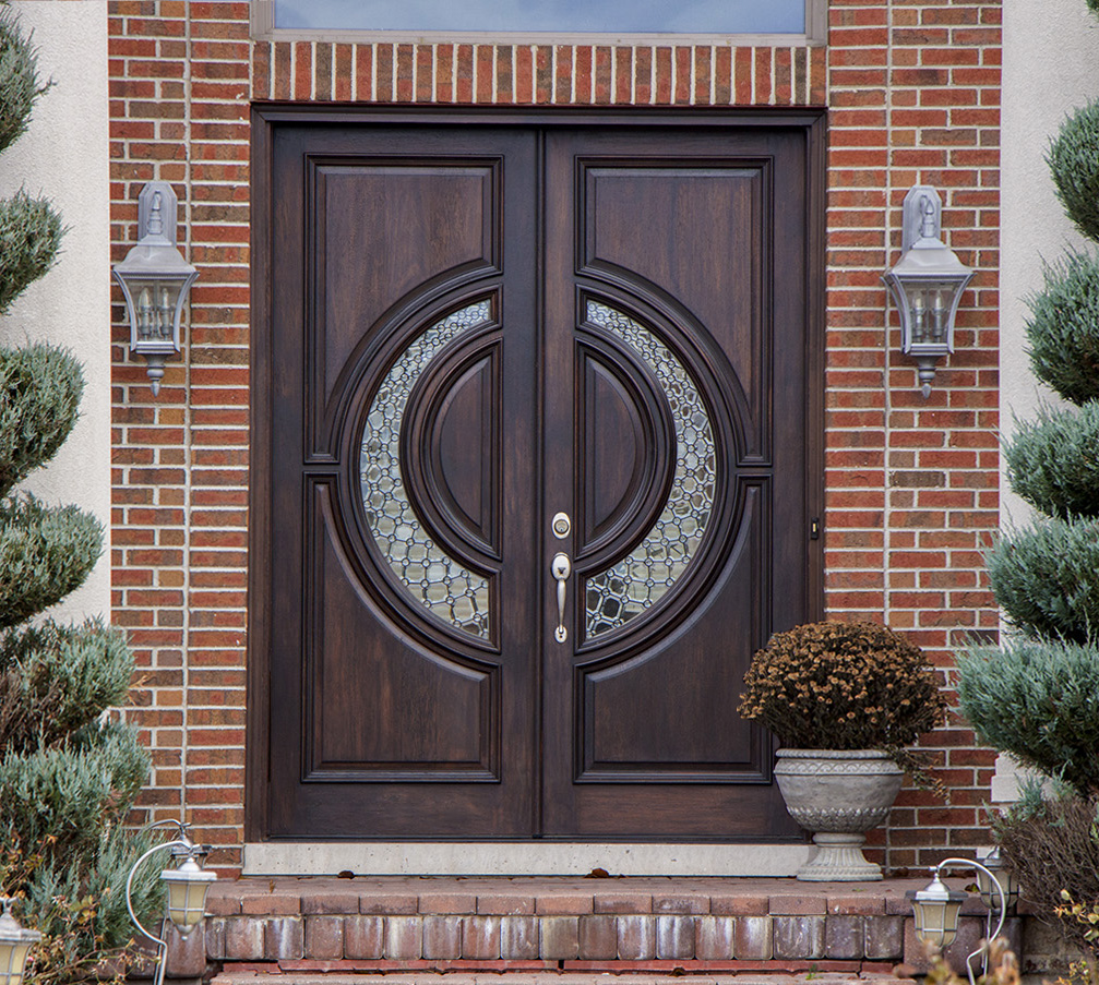 elegant double doors