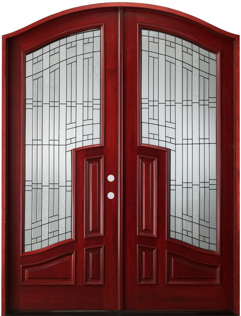 African Mahogany Amp Double Doors