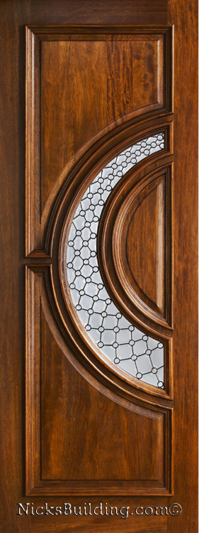Mahogany exterior single doors in 8ft height for Single glass exterior door