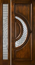 Tiffany door with 1 sidelight