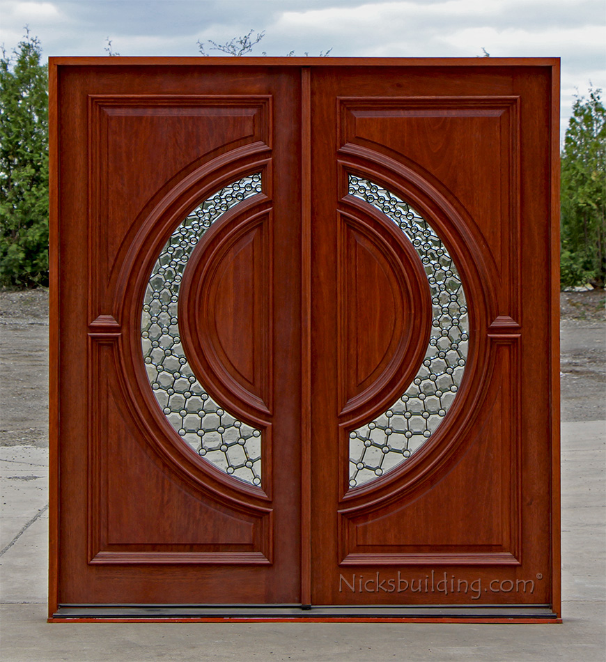 Exterior front doors double - Double Entry Doors 6 0 X 6 8 Patina Came Nickel Came Rain Glass Or Clear Glass Lh Or Rh Available Only 3295 Rough Opening 75 5 8 X 82 1 2