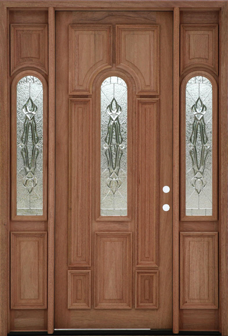 Mahogony doors dm552s 5 panel contemporary exterior wood for Mahogany exterior door