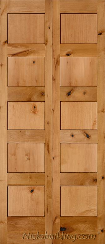 Rustic shaker doors - Shaker bifold closet doors ...