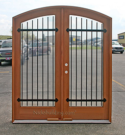 custom made arched double doors