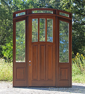 custom arched 9 ft tall door