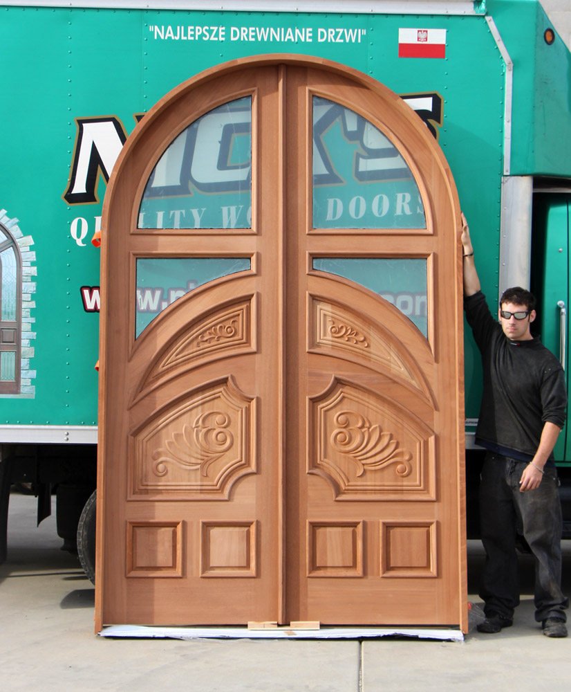 Custom round top double door