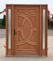 Custom Size Wide Doors with sidelights