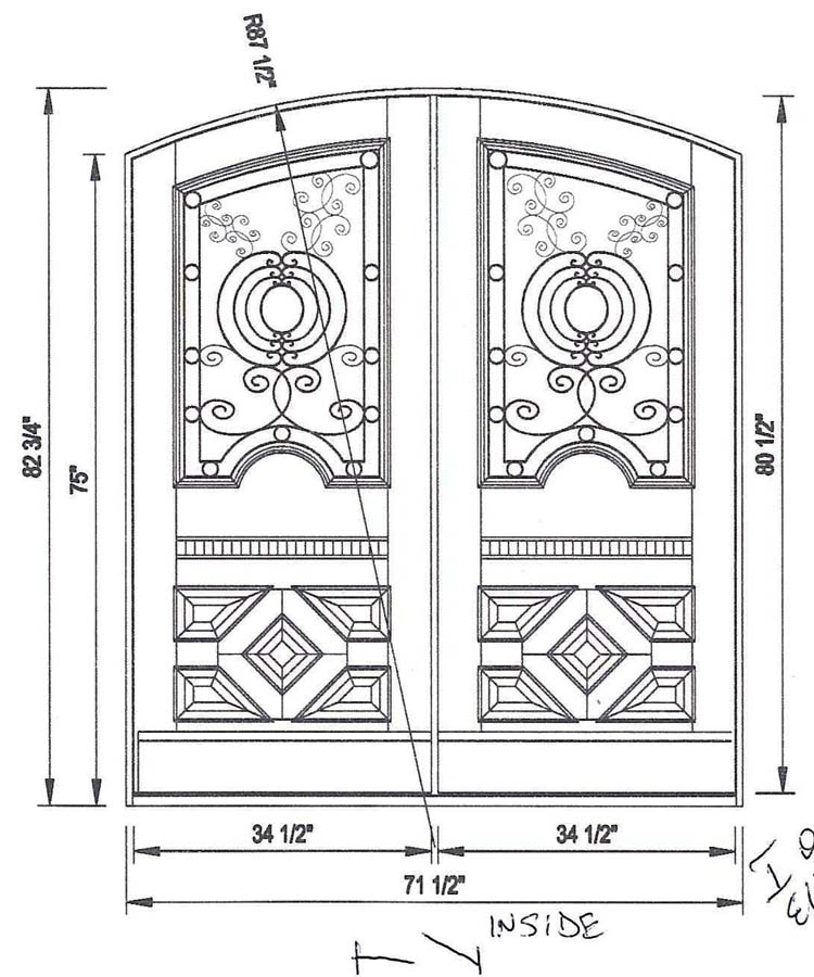 custom double door exterior