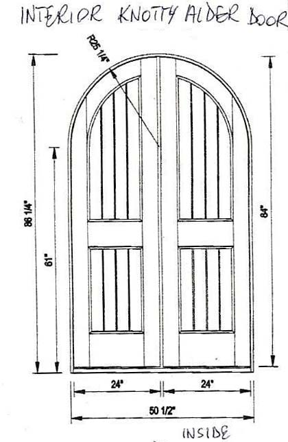 custom interior arched doors