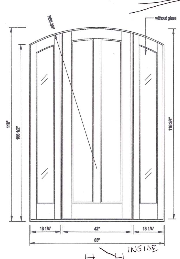custom door arched