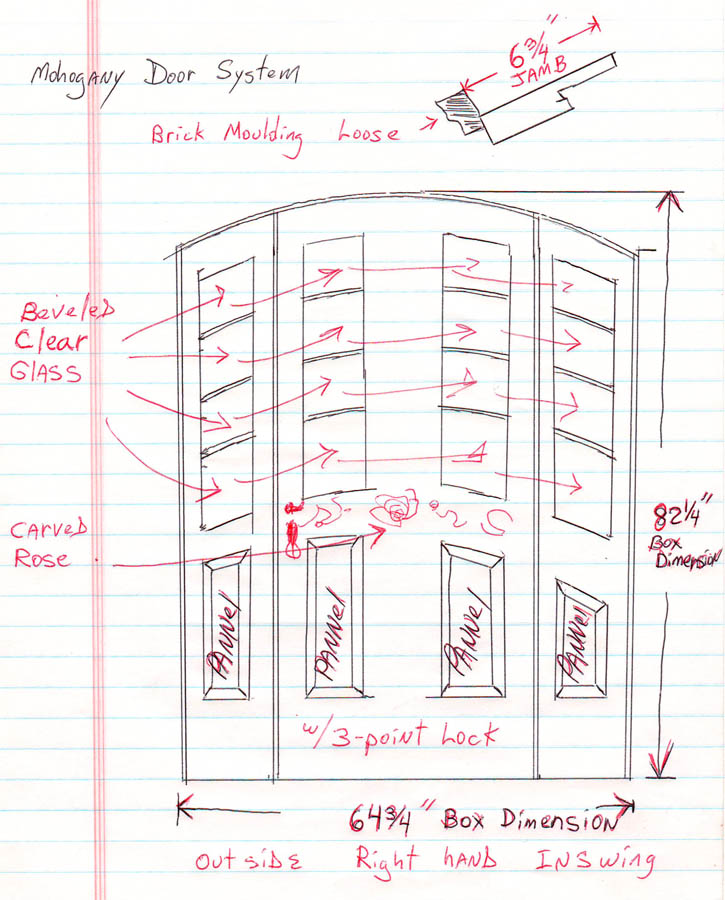custom door sketch