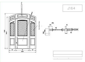 arched top door drawing