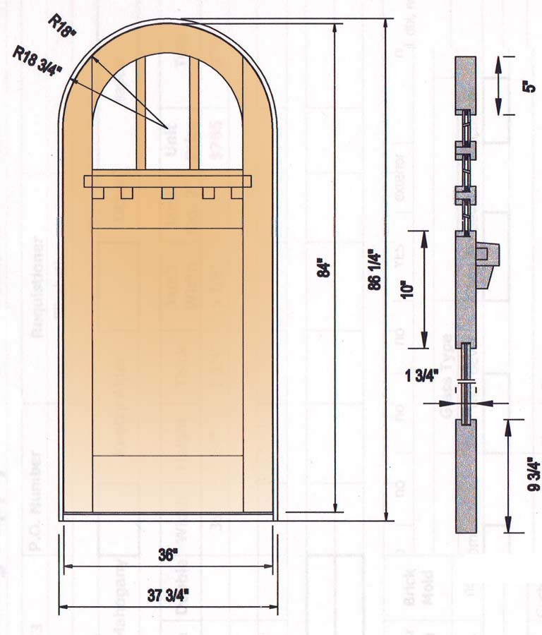 custom door arched craftsman