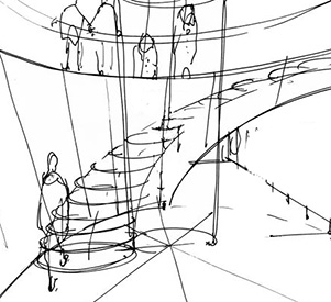 stairway drawing