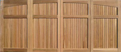 cedar garage door with all wood plank panels Eclipse 16x7 & Wood Garage Doors | Wooden Overhead Door | Paint Grade Garage Doors
