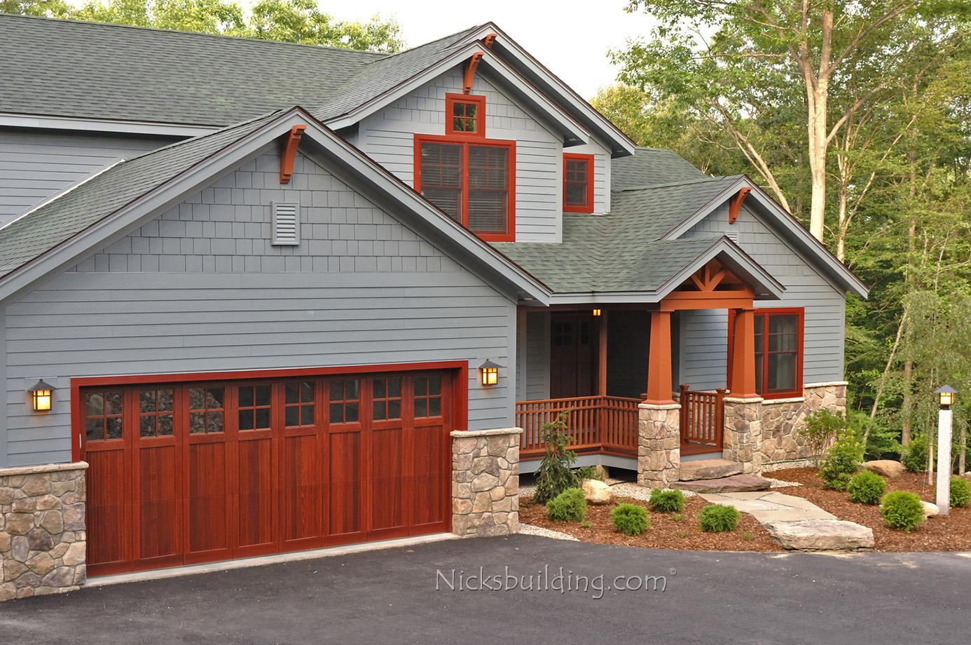 Wood garage doors wooden overhead door paint grade for A authentic garage door