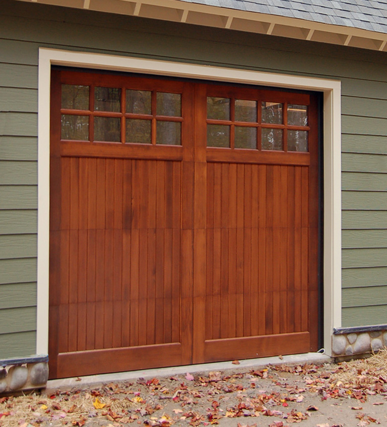 Wood garage doors wooden overhead door paint grade for 10 x 8 garage door price