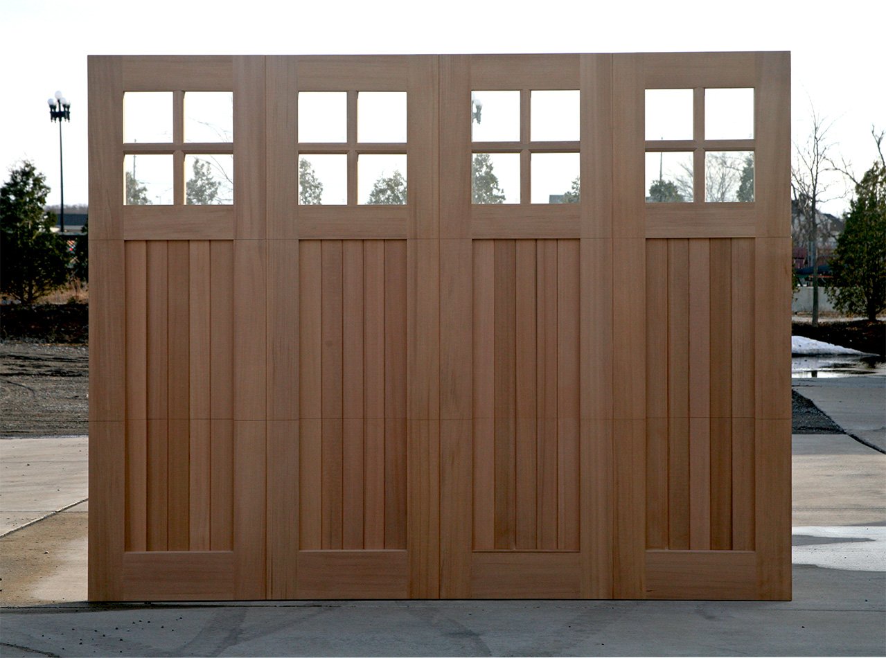 Wood garage doors wooden overhead door paint grade doors for Cedar wood garage doors price