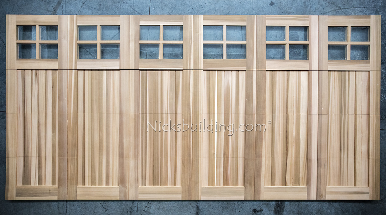 Wood garage doors wooden overhead door paint grade for 16 x 11 garage door
