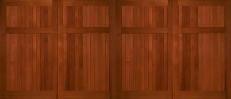 2 car knotty cedar garage doors