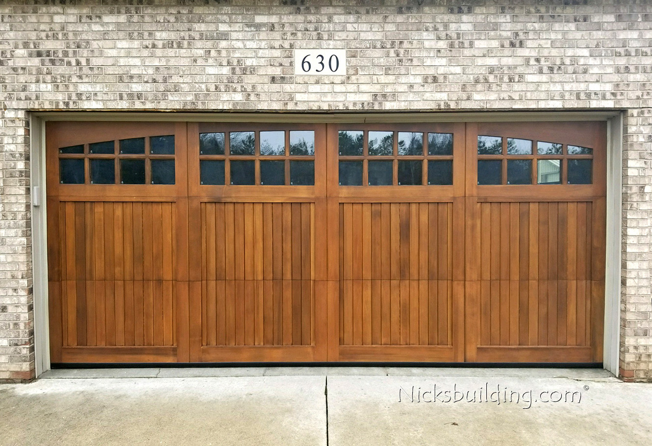 Wood garage doors wooden overhead door paint grade for 16 x 21 garage door panels
