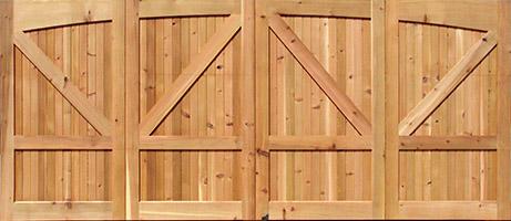 Knotty Cedar Garage Doors  sc 1 st  Nick\u0027s Building Supply & Wood Garage Doors | Wooden Overhead Door | Paint Grade Garage Doors