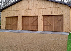 Knotty Cedar Garage Doors