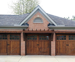 Knotty cedar Garage Doors After Remodel