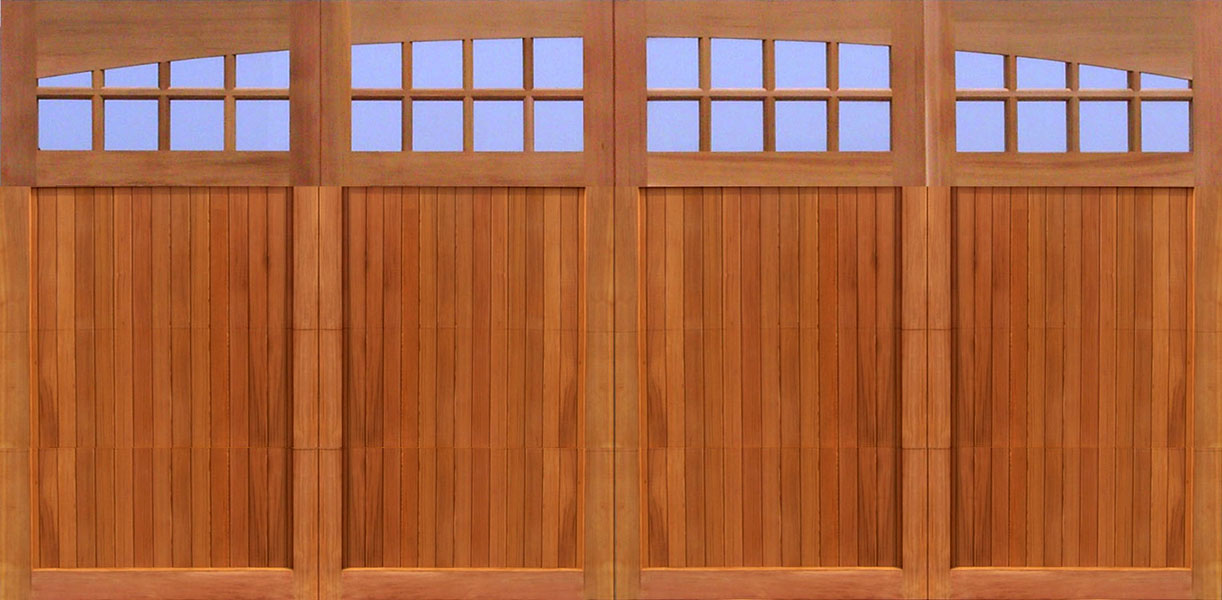 Wood garage doors wooden overhead door paint grade for 18x8 garage door