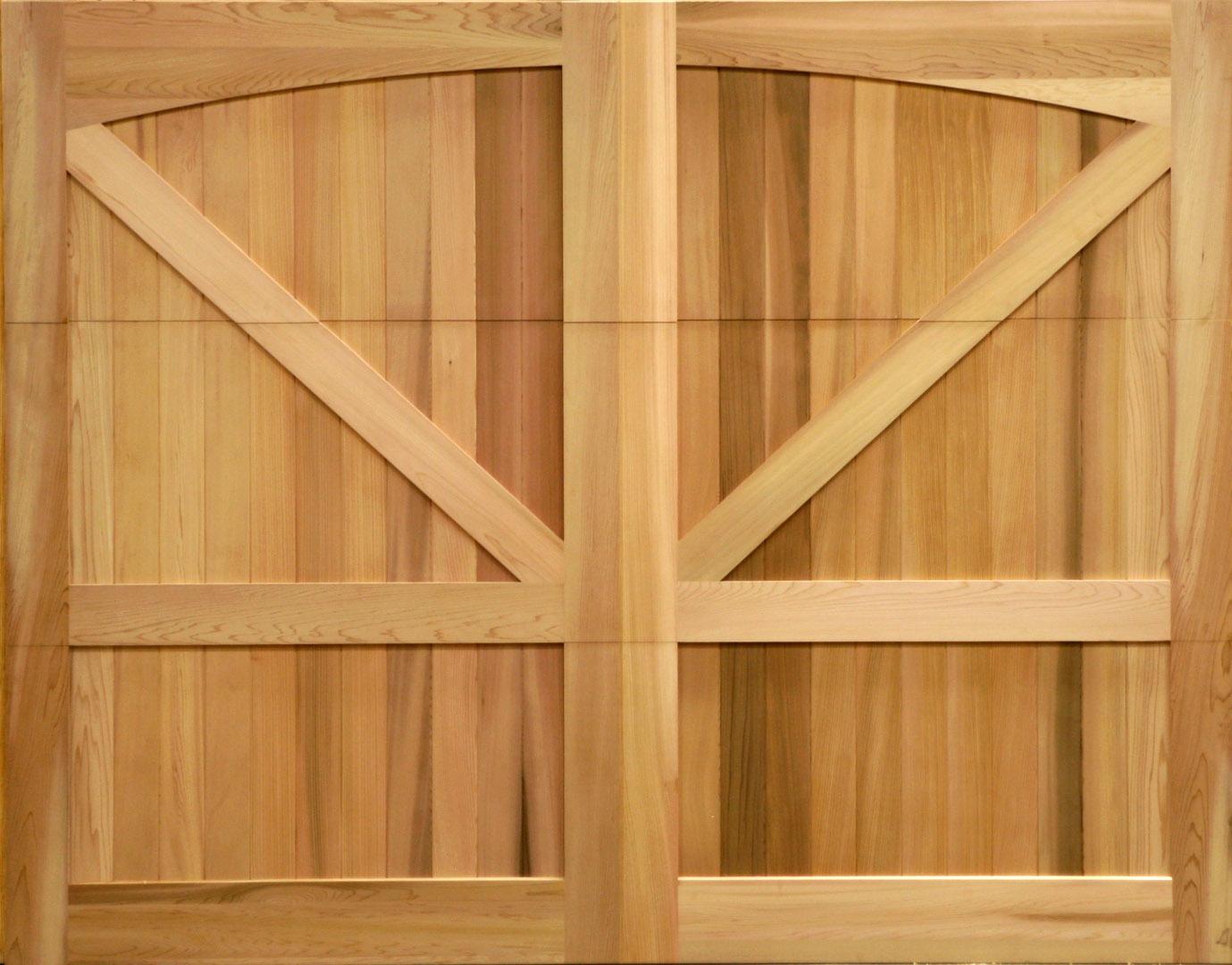 Custom Stain Grade Wood Garage Door In Clear Western Red