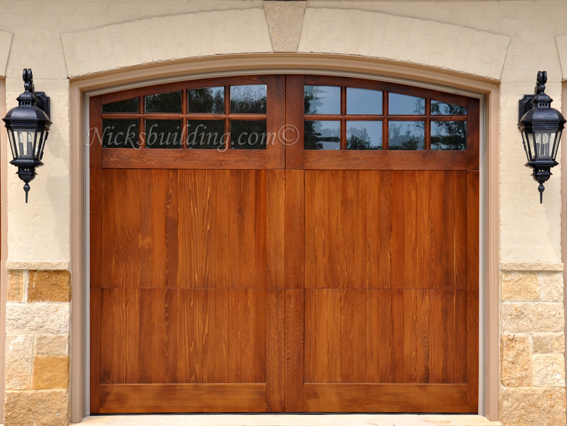 Wood overhead garage doors and carriage garage doors for for 16 x 11 garage door